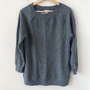 Caslon blue heathered long sweatshirt